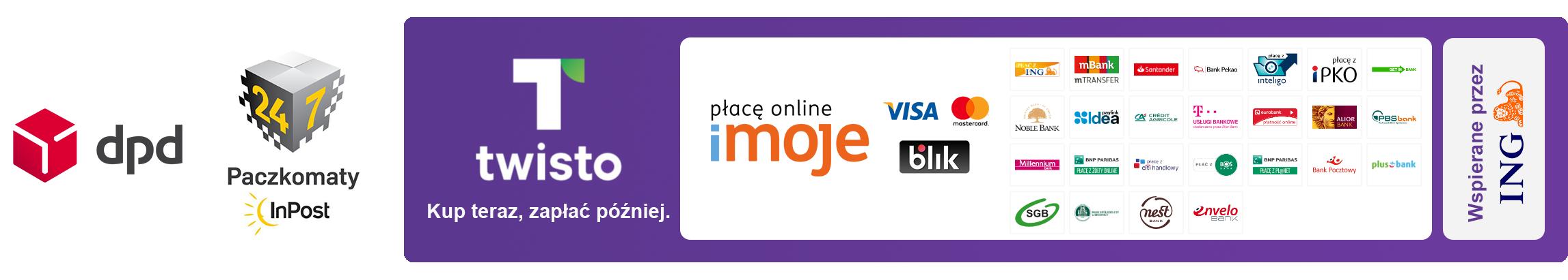 Kup teraz, zapłać później.Płacę online z imoje. Blik, Szybkie płatności. Wspieranie przez ING Bank.
